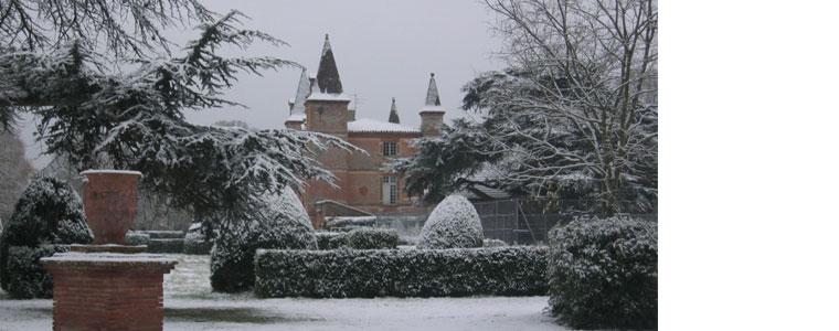 Château de Rochemontès sous la neige