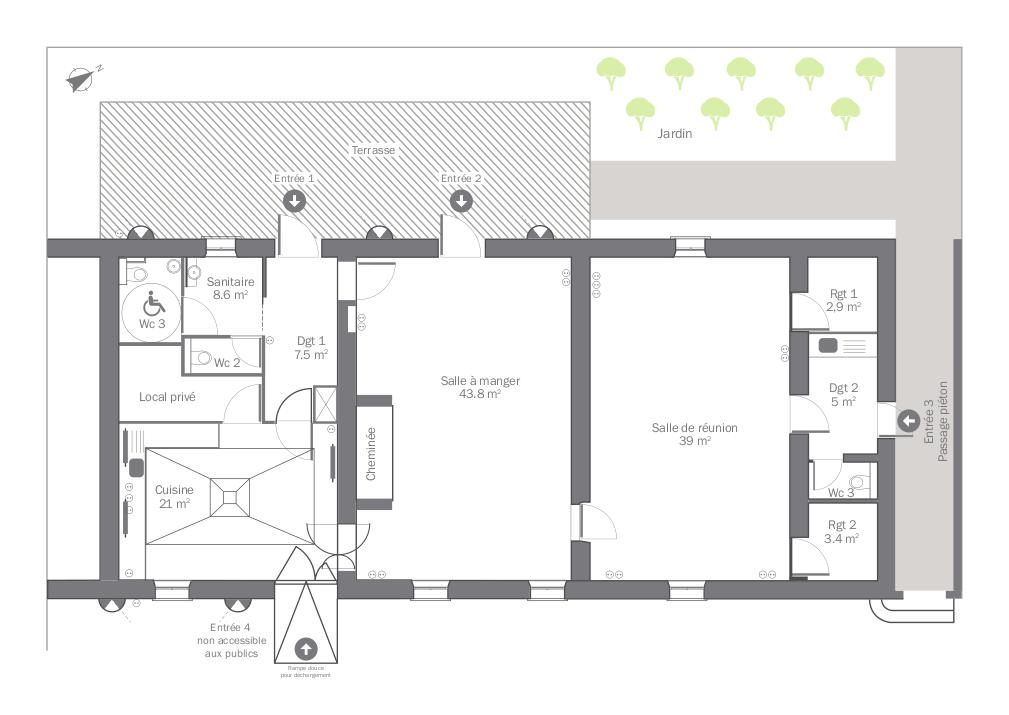 Plan de la Cerisaie de Rochemontès