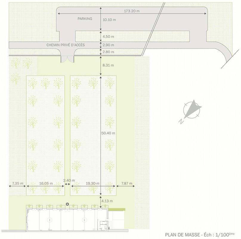 Plan du jardin de l'Orangerie de Rochemontès