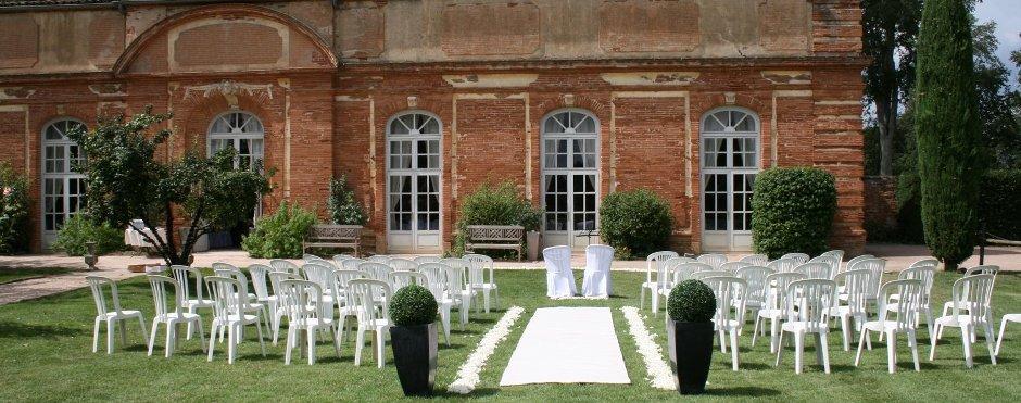 Mariages domaine de rochemont s for Jardin orangerie